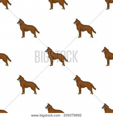 A pet, a dog with a ball in his teeth, a German shepherd. Pet, dog care single icon in cartoon style vector symbol stock illustration .