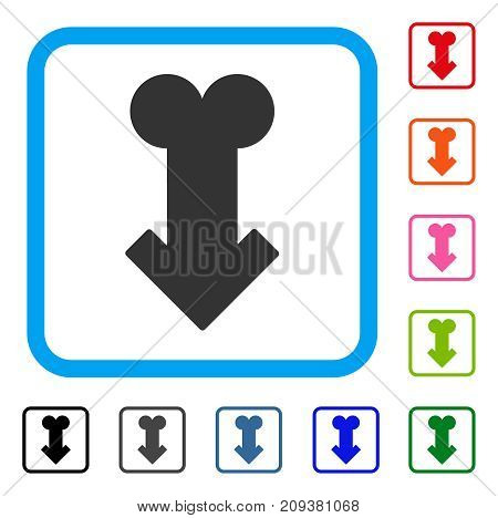Male Sexual Disfunction icon. Flat grey pictogram symbol in a light blue rounded square. Black, gray, green, blue, red, orange color variants of Male Sexual Disfunction vector.