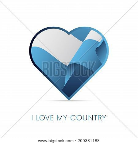 San Marino flag in heart. I love my country. Sign. Vector illustration.