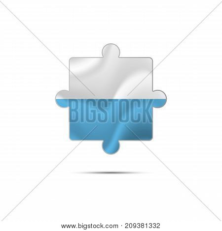 Isolated piece of puzzle with the San Marino flag. Vector illustration.