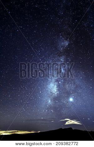 Milky Way Above The Peak Of The Volcano Teide