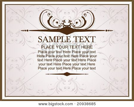 poster of creative artwork background with floral frame illustration