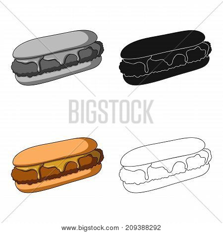 Pastry, single icon in cartoon style.Pastry, vector symbol stock illustration .