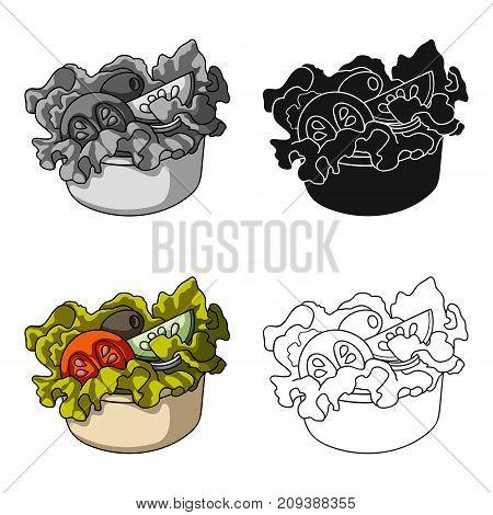 Bowl, single icon in cartoon style.Bowl, vector symbol stock illustration .