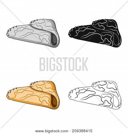 Pancake, single icon in cartoon style.Pancake, vector symbol stock illustration .