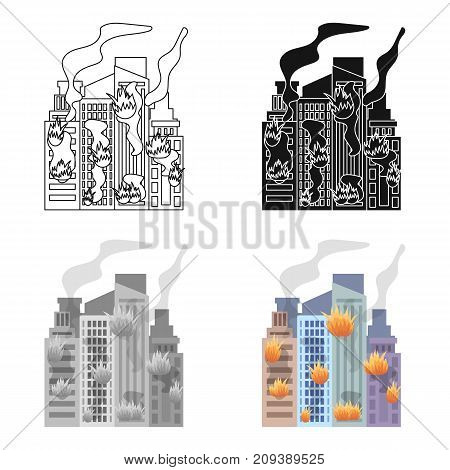 City, single icon in cartoon style.City, vector symbol stock illustration .