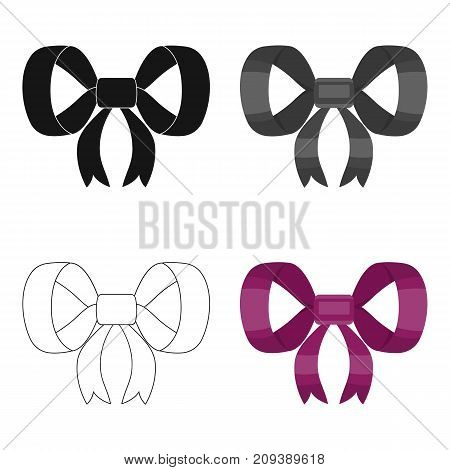 Knot, ribbon, decoration, and other  icon in cartoon style. Textile, decor, gift icons in set collection