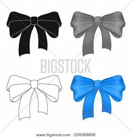 Bow, ribbon, decoration, and other  icon in cartoon style. Textile, decor, gift icons in set collection