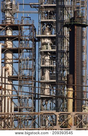 Gas and oil refinery plant complex Detroit