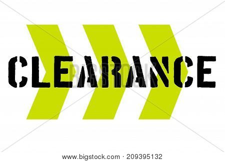 clearance sticker. Authentic design graphic stamp. Original series
