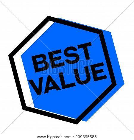 Best value sticker. Authentic design graphic stamp. Original series