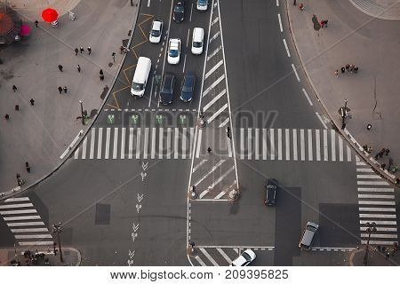 Intersection of urban roads