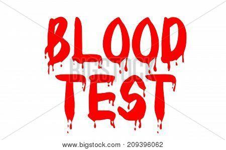 Blood test sticker. Authentic design graphic stamp. Original series
