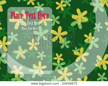 abstract green st, patrick day background illustration