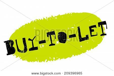 Buy-to-let sticker. Authentic design graphic stamp. Original series