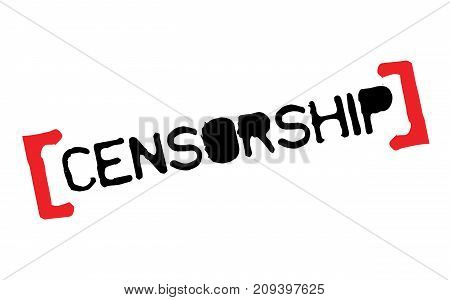 Censorship sticker. Authentic design graphic stamp. Original series