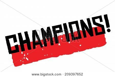 Champions sticker. Authentic design graphic stamp. Original series