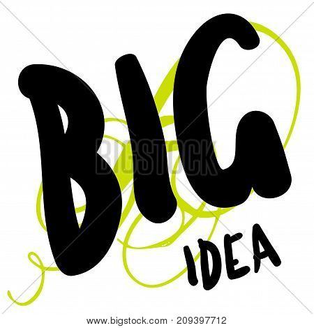 Big idea sticker. Authentic design graphic stamp. Original series
