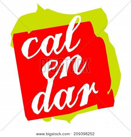 Calendar sticker. Authentic design graphic stamp. Original series