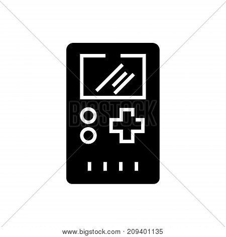 game console-17 icon, illustration, vector sign on isolated background