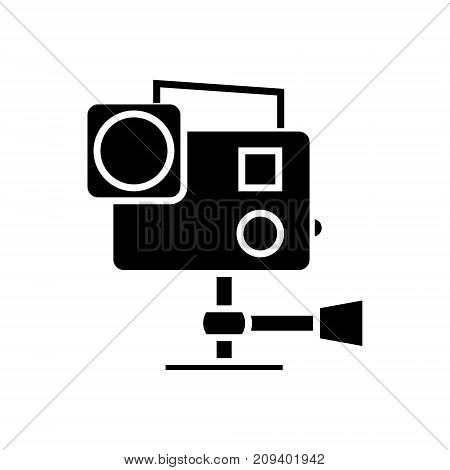 go pro video camera icon, illustration, vector sign on isolated background