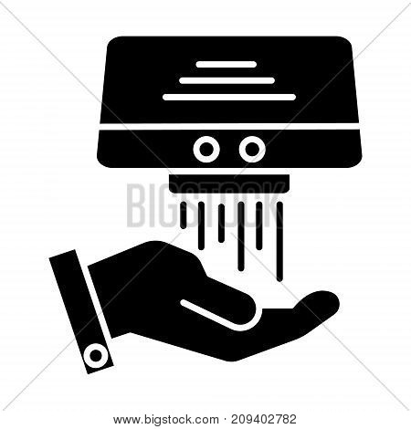 hand dryer icon, illustration, vector sign on isolated background