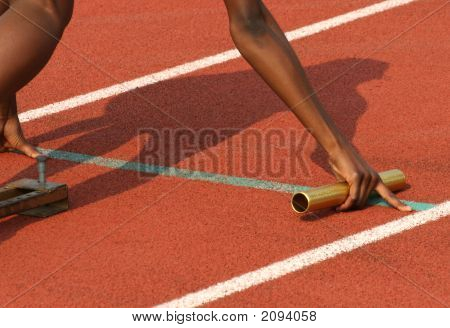 Athlete At The Start Line