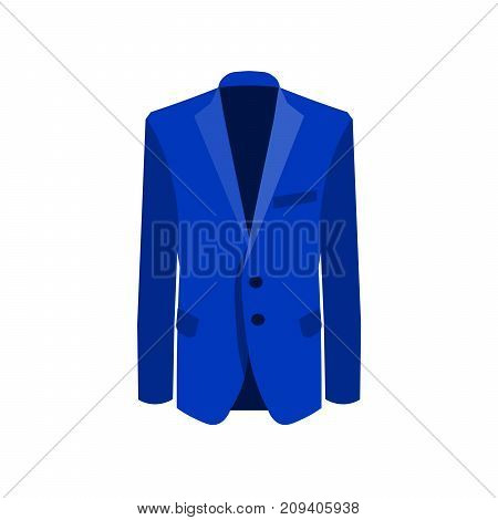 Vector illustration of blue man suit on white background. Business suit, business, mens suit, man in suit. EPS10