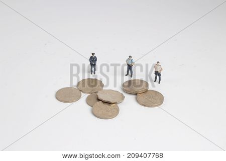 A Figure Of Police With The Coins