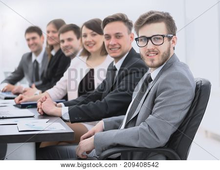 businessman and business team at the workplace