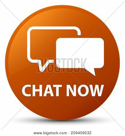 Chat Now Brown Round Button
