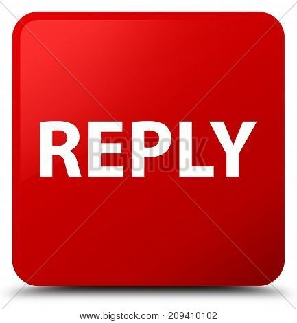 Reply Red Square Button