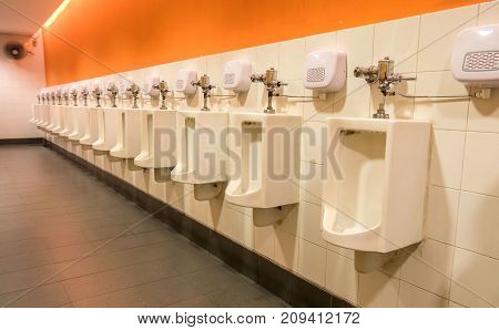 Interior Of Modern Toilet bowl in bathroom .