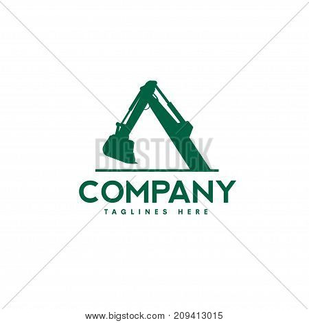Excavators Construction machinery logo, Special equipment, Excavators, crane, Logo Flat style