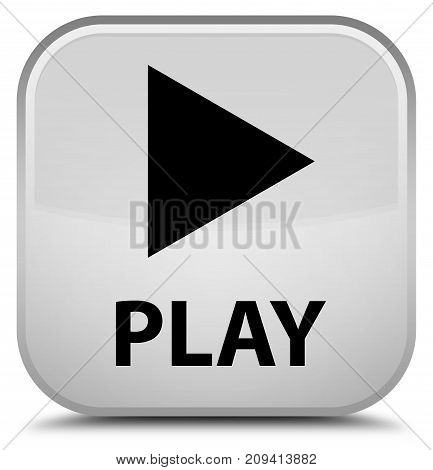 Play Special White Square Button