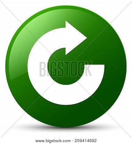 Reply Arrow Icon Green Round Button