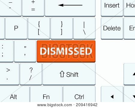 Dismissed Orange Keyboard Button