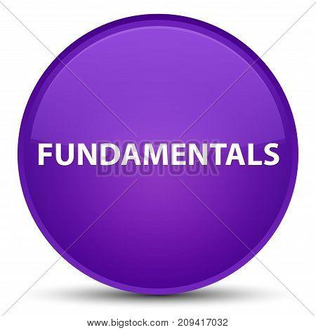 Fundamentals Special Purple Round Button