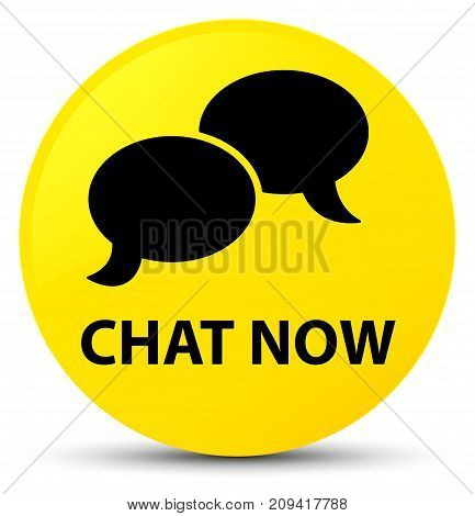 Chat Now Yellow Round Button