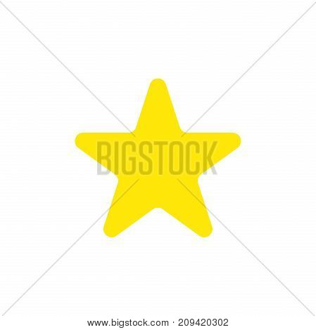 Flat Design Style Vector Of Star