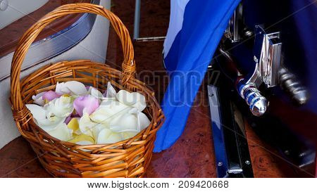 Shot of Flower & candle used for a funeral