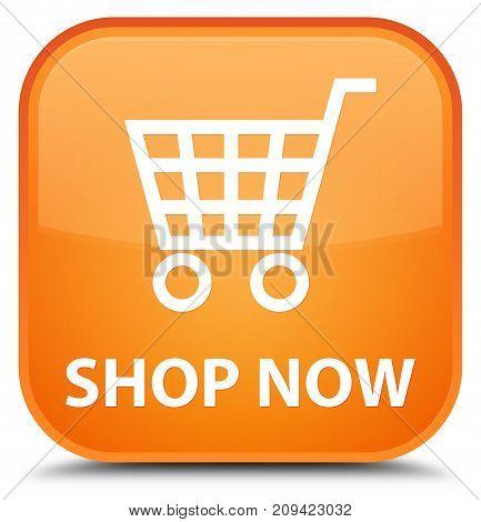 Shop Now Special Orange Square Button
