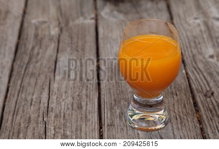 Fresh Squeezed Orange Juice In A Clear Glass