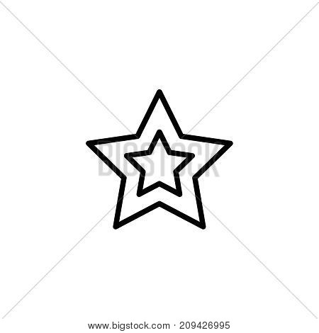 Christmas star flat icon. Single high quality outline symbol of christmas for web design or mobile app. Thin line signs of holiday for design logo, visit card, etc. Outline logo of celebration