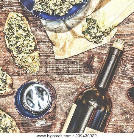 Wine And Crostini