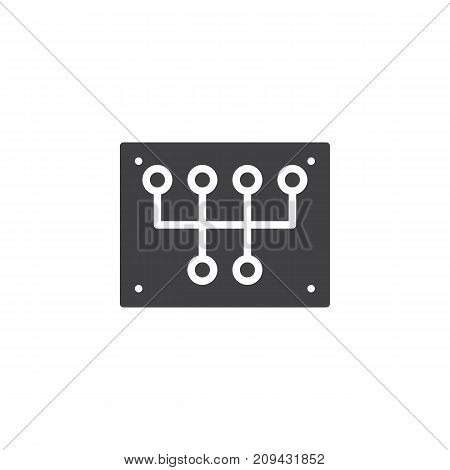 Gear Shift icon vector, filled flat sign, solid pictogram isolated on white. Symbol, logo illustration.