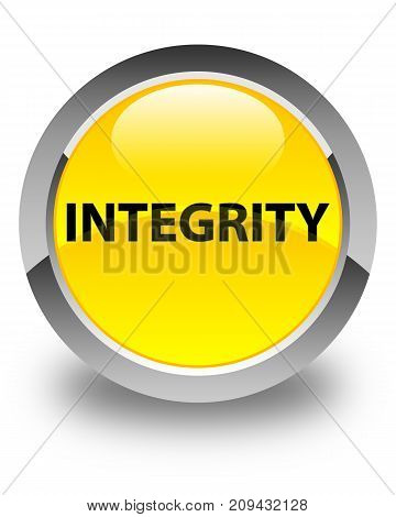 Integrity Glossy Yellow Round Button