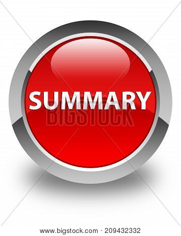Summary Glossy Red Round Button