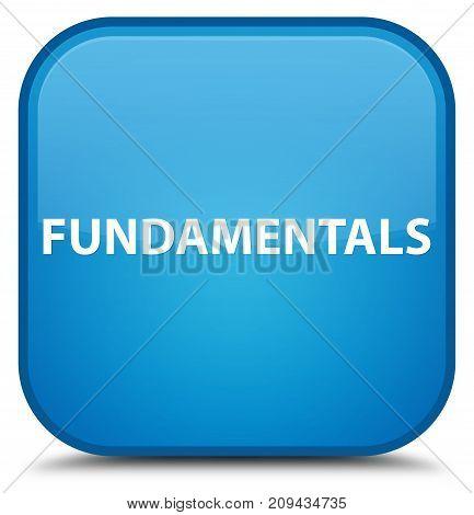 Fundamentals Special Cyan Blue Square Button