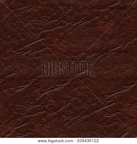 Seamless Dark Brown Leatherette Texture Background